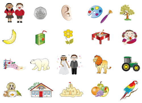 example of illustrations in word lists