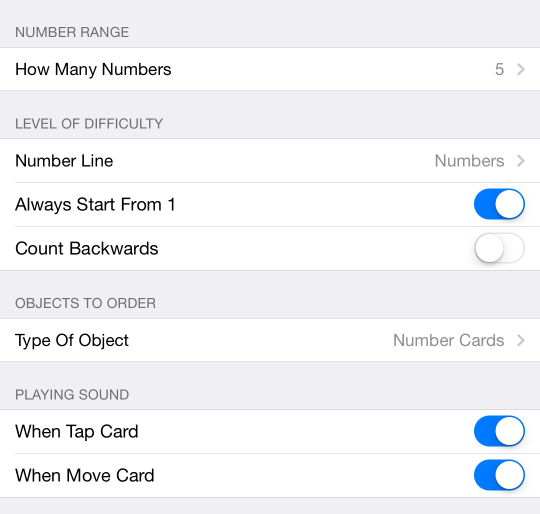 Special Numbers - Order the Numbers iOS