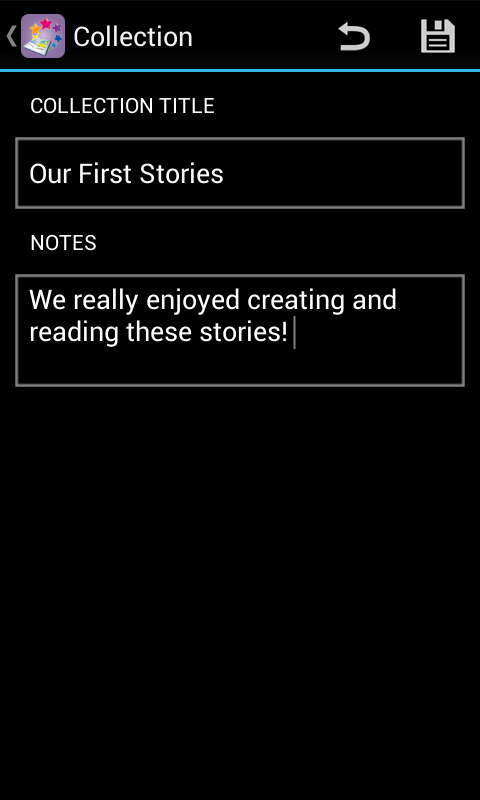 Special Stories - edit collection Android