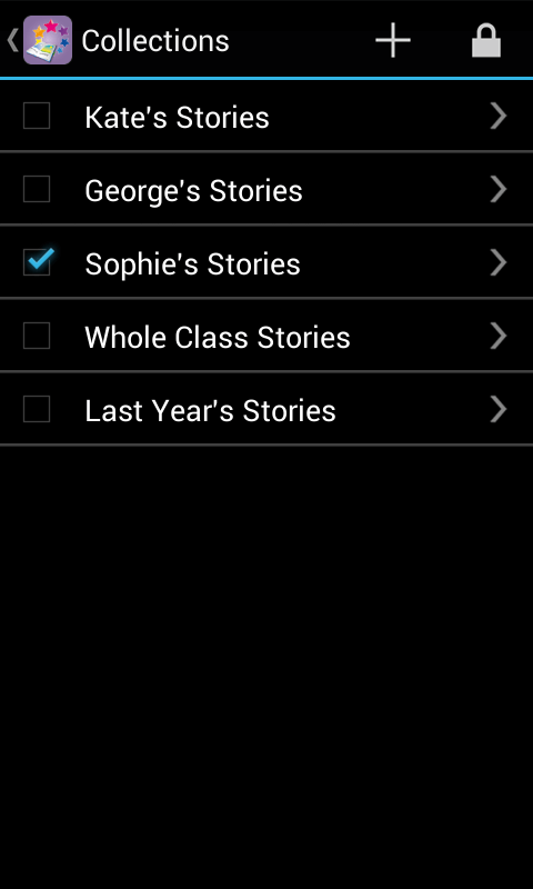 Special Stories - multiple collections Android