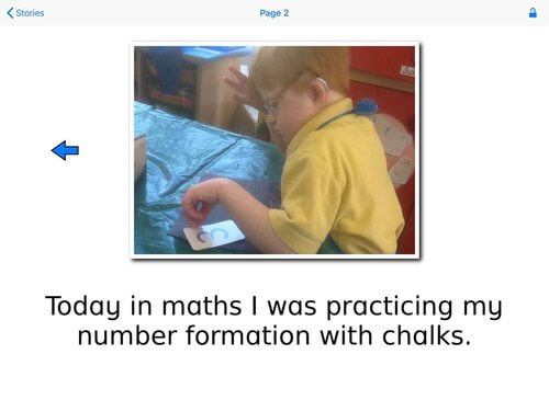 "Special Stories - ""Today in maths i was practicing my number formation with chalks."""